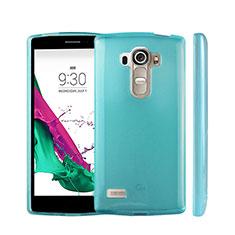 Funda Silicona Ultrafina Transparente para LG G4 Beat Azul Cielo