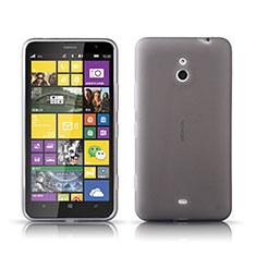 Funda Silicona Ultrafina Transparente para Nokia Lumia 1320 Gris