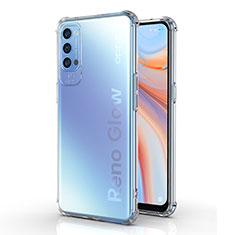 Funda Silicona Ultrafina Transparente para Oppo Reno4 5G Claro