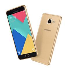 Funda Silicona Ultrafina Transparente para Samsung Galaxy A7 (2016) A7100 Oro