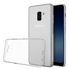 Funda Silicona Ultrafina Transparente para Samsung Galaxy A8 (2018) Duos A530F Claro