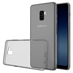 Funda Silicona Ultrafina Transparente para Samsung Galaxy A8 (2018) Duos A530F Gris