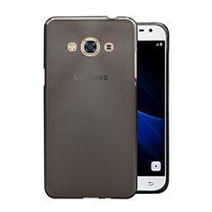 Funda Silicona Ultrafina Transparente para Samsung Galaxy J3 Pro (2016) J3110 Gris