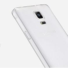 Funda Silicona Ultrafina Transparente para Samsung Galaxy Note 4 Duos N9100 Dual SIM Claro