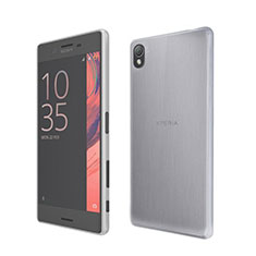 Funda Silicona Ultrafina Transparente para Sony Xperia X Blanco
