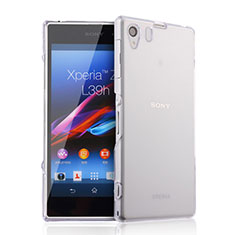 Funda Silicona Ultrafina Transparente para Sony Xperia Z1 L39h Claro