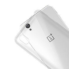 Funda Silicona Ultrafina Transparente R01 para OnePlus X Claro