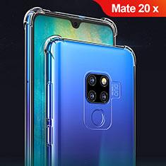 Funda Silicona Ultrafina Transparente T02 para Huawei Mate 20 X Claro