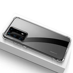 Funda Silicona Ultrafina Transparente T02 para Huawei P40 Pro+ Plus Claro