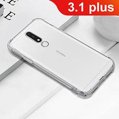 Funda Silicona Ultrafina Transparente T02 para Nokia 3.1 Plus Claro