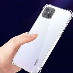 Funda Silicona Ultrafina Transparente T02 para Oppo Reno4 Z 5G Claro