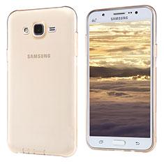 Funda Silicona Ultrafina Transparente T02 para Samsung Galaxy J5 SM-J500F Oro