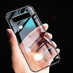 Funda Silicona Ultrafina Transparente T02 para Samsung Galaxy S10 5G Negro