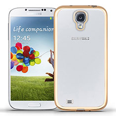 Funda Silicona Ultrafina Transparente T02 para Samsung Galaxy S4 i9500 i9505 Oro