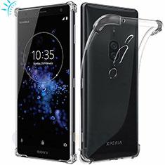 Funda Silicona Ultrafina Transparente T02 para Sony Xperia XZ2 Premium Claro