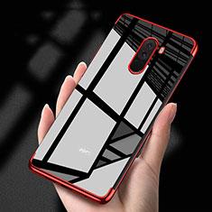 Funda Silicona Ultrafina Transparente T02 para Xiaomi Pocophone F1 Rojo