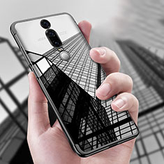Funda Silicona Ultrafina Transparente T04 para Huawei Mate RS Negro