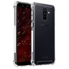 Funda Silicona Ultrafina Transparente T04 para Samsung Galaxy A6 Plus Claro