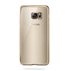Funda Silicona Ultrafina Transparente T04 para Samsung Galaxy S6 Duos SM-G920F G9200 Oro