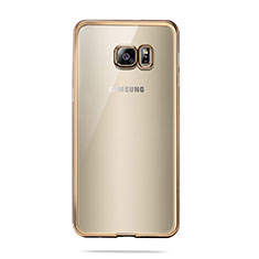Funda Silicona Ultrafina Transparente T04 para Samsung Galaxy S6 SM-G920 Oro
