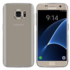 Funda Silicona Ultrafina Transparente T04 para Samsung Galaxy S7 G930F G930FD Gris
