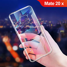 Funda Silicona Ultrafina Transparente T06 para Huawei Mate 20 X Claro