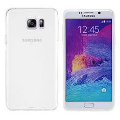Funda Silicona Ultrafina Transparente T06 para Samsung Galaxy Note 5 N9200 N920 N920F Blanco