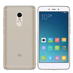 Funda Silicona Ultrafina Transparente T06 para Xiaomi Redmi Note 4 Gris