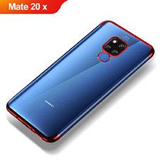 Funda Silicona Ultrafina Transparente T07 para Huawei Mate 20 X Rojo
