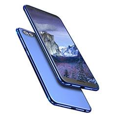 Funda Silicona Ultrafina Transparente T09 para Huawei Honor V10 Azul