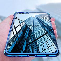 Funda Silicona Ultrafina Transparente T10 para Huawei Honor V10 Azul