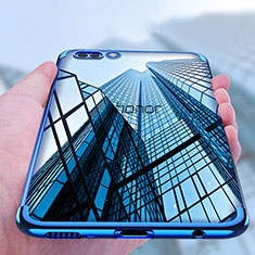 Funda Silicona Ultrafina Transparente T10 para Huawei Honor View 10 Azul