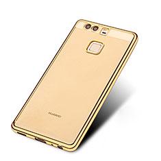 Funda Silicona Ultrafina Transparente T11 para Huawei P9 Oro