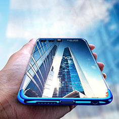 Funda Silicona Ultrafina Transparente T15 para Huawei Honor 9 Azul