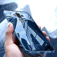 Funda Silicona Ultrafina Transparente T17 para Huawei Mate 9 Azul