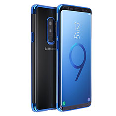 Funda Silicona Ultrafina Transparente T18 para Samsung Galaxy S9 Plus Azul
