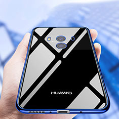 Funda Silicona Ultrafina Transparente T19 para Huawei Mate 10 Azul
