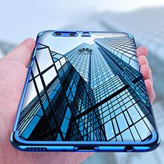 Funda Silicona Ultrafina Transparente U03 para Huawei P10 Plus Azul