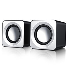 Mini Altavoz Portatil Altavoces Estereo W04 para Sharp AQUOS Sense4 Plus Blanco