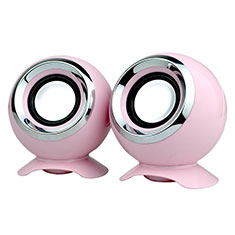 Mini Altavoz Portatil Altavoces Estereo W05 para Apple iPhone 11 Pro Rosa