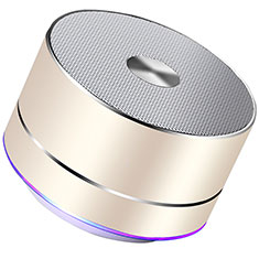 Mini Altavoz Portatil Bluetooth Inalambrico Altavoces Estereo K01 para Apple iPhone 11 Pro Oro