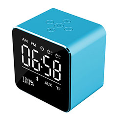 Mini Altavoz Portatil Bluetooth Inalambrico Altavoces Estereo K08 para Samsung Galaxy Note 10 Plus Azul