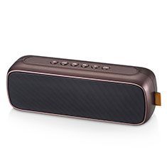 Mini Altavoz Portatil Bluetooth Inalambrico Altavoces Estereo S09 para Sharp AQUOS Sense4 Plus Marron