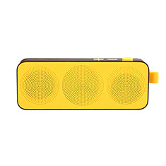 Mini Altavoz Portatil Bluetooth Inalambrico Altavoces Estereo S12 para Sharp AQUOS Sense4 Plus Amarillo