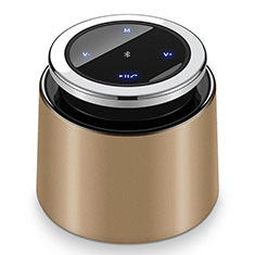 Mini Altavoz Portatil Bluetooth Inalambrico Altavoces Estereo S26 para Sharp AQUOS Sense4 Plus Oro