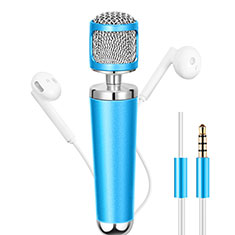 Mini Microfono Estereo de 3.5 mm para Apple iPhone 11 Pro Max Azul Cielo
