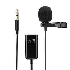 Mini Microfono Estereo de 3.5 mm K01 para Apple iPhone 11 Pro Max Negro