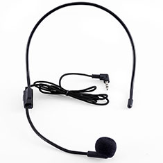 Mini Microfono Estereo de 3.5 mm K03 para Blackberry DTEK60 Negro