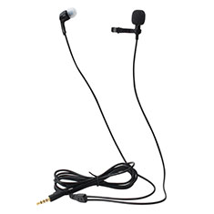 Mini Microfono Estereo de 3.5 mm K05 para Samsung Galaxy Note 10 Plus Negro