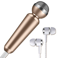 Mini Microfono Estereo de 3.5 mm M02 para Apple iPhone 11 Pro Max Oro